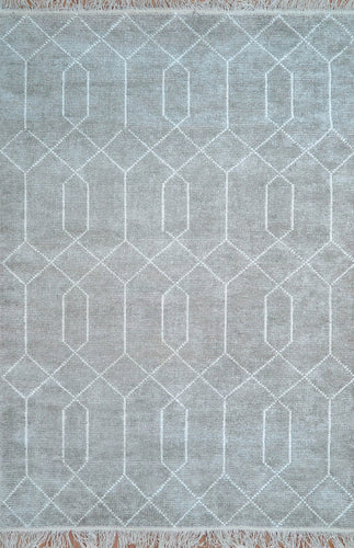 Trellis Fog Neutral Coloured Rug - Living DNA Singapore