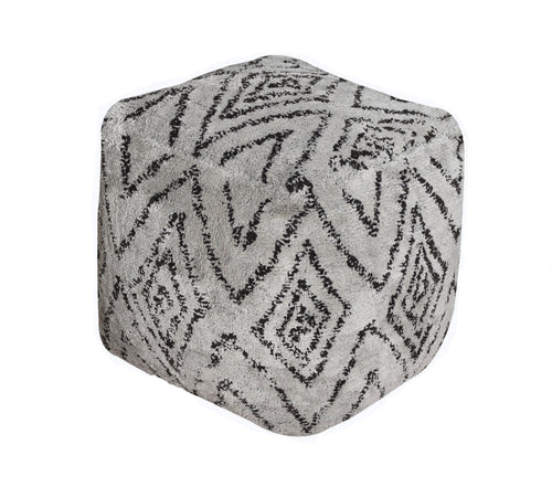 Sketch Gray Pouf