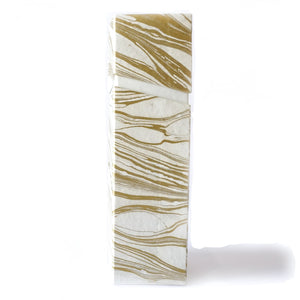 Rectangular Wine Box Gold Tabletop Decor