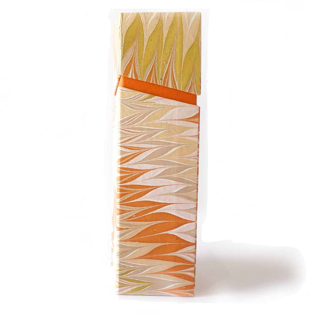 Rectangular Wine Box Orange Tabletop Decor