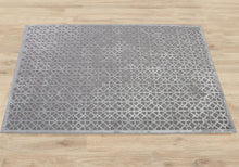 Load image into Gallery viewer, Calypso Grey Cotton Chenille & Viscose Rug - Living DNA Singapore