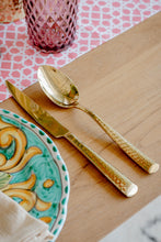 Load image into Gallery viewer, Hammered Gold Dinner Spoon