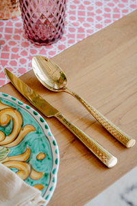 Hammered Gold Dinner Spoon