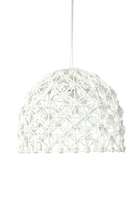 Navi Reclaimed Rope White Lamp - Departures & Arrivals  - 1