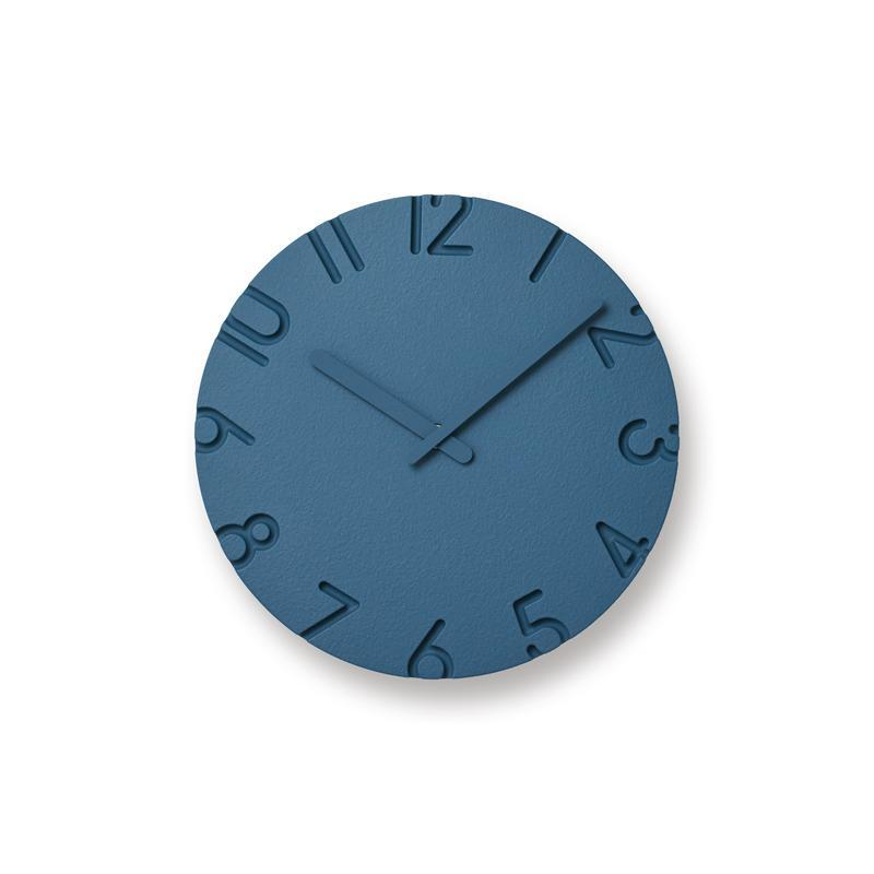 Carved Colored Blue Clocks