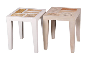 Basilisa Stool/Accent Table - Departures & Arrivals  - 2