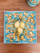 Load image into Gallery viewer, Lemon Ceramic Handkerchief Platter - Turquoise