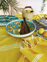 Load image into Gallery viewer, Lemon Ceramic Serving Bowl - Turquoise Dinnerware