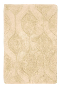 Sofia Beige Bath Carpet - Departures & Arrivals