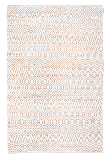 Java White Hemp and Cotton Rug - Living DNA Singapore