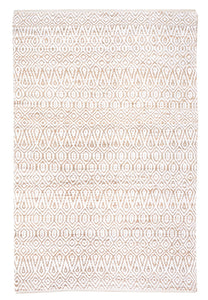 Java White Hemp and Cotton Rug - Departures & Arrivals  - 1