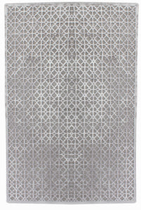 Calypso Grey Cotton Chenille & Viscose Rug - Living DNA Singapore