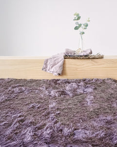 Shaggy Orchid Mauve Polyester Rug - Living DNA Singapore