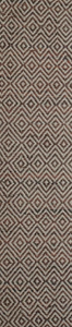 Diamond Leather Brown Runner Rug