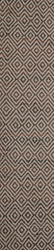 Diamond Leather Brown Runner Rug Rugs