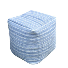 Load image into Gallery viewer, Orlando Recycled Blue Pouf Stools & Poufs