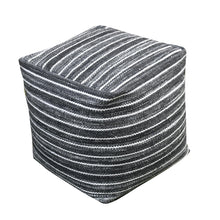 Load image into Gallery viewer, Orlando Recycled Charcoal Pouf Stools & Poufs