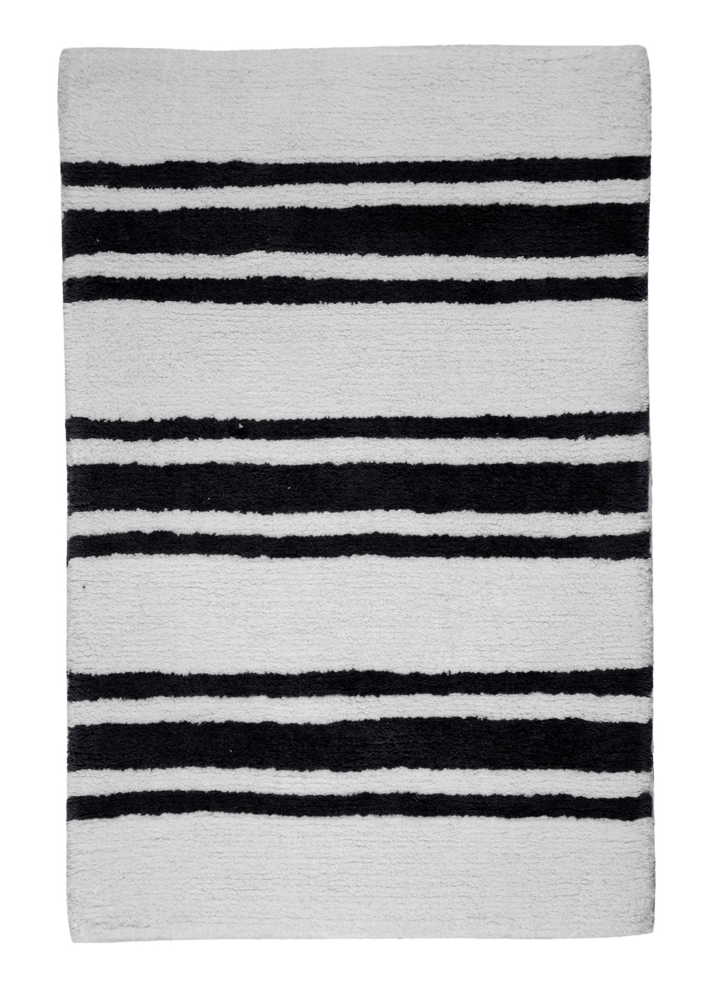 Stripe Midnight Bath Carpet - Departures & Arrivals  - 1