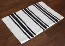 Load image into Gallery viewer, Stripe Midnight Bath Carpet - Departures & Arrivals  - 2