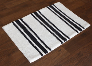Stripe Midnight Bath Carpet - Departures & Arrivals  - 2