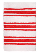 Load image into Gallery viewer, Stripe Red Bath Carpet - Departures & Arrivals  - 1