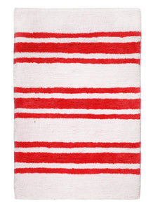 Stripe Red Bath Carpet - Departures & Arrivals  - 1