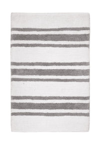 Stripe Silver Bath Carpet - Departures & Arrivals  - 1