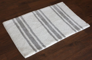 Stripe Silver Bath Carpet - Departures & Arrivals  - 2