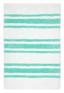 Stripe Teal Bath Carpet - Departures & Arrivals