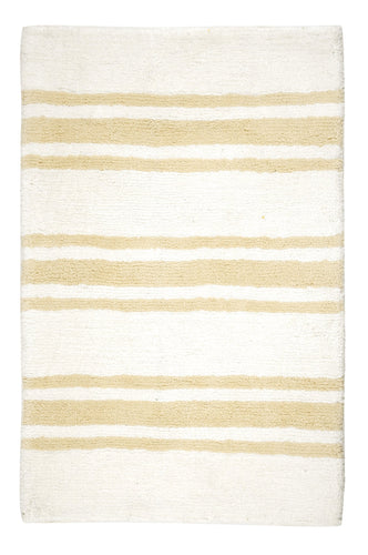 Stripe Beige Bath Carpet - Departures & Arrivals