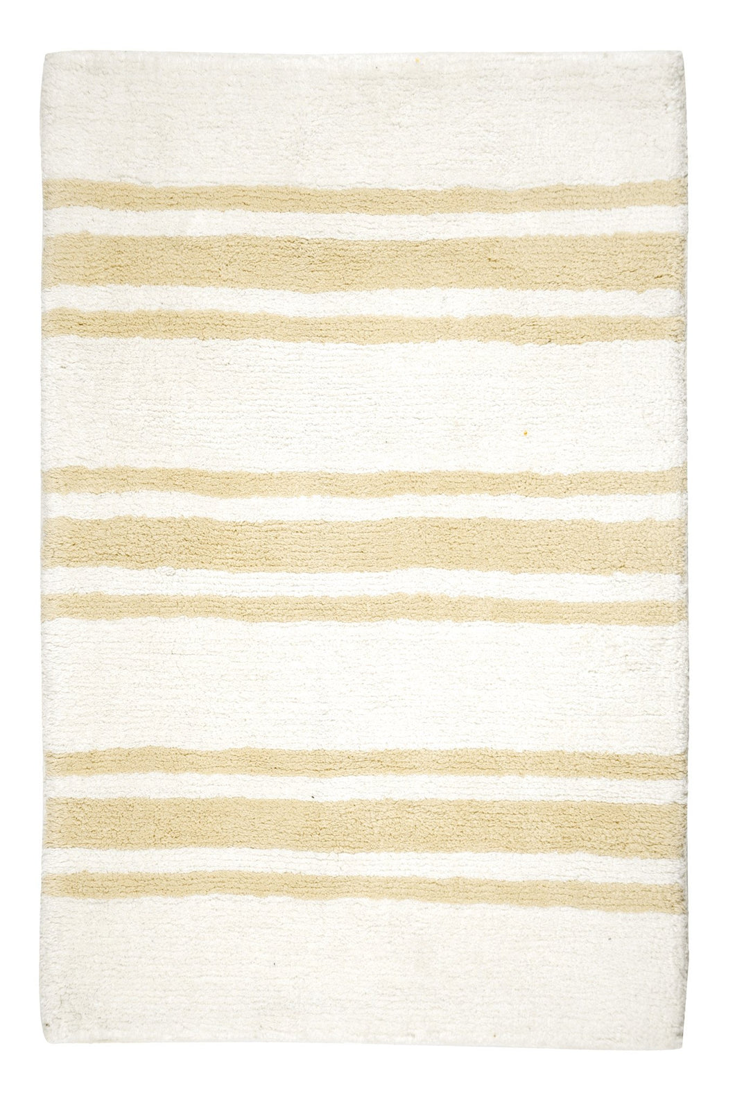Stripe Beige Large Bath Carpet - Departures & Arrivals