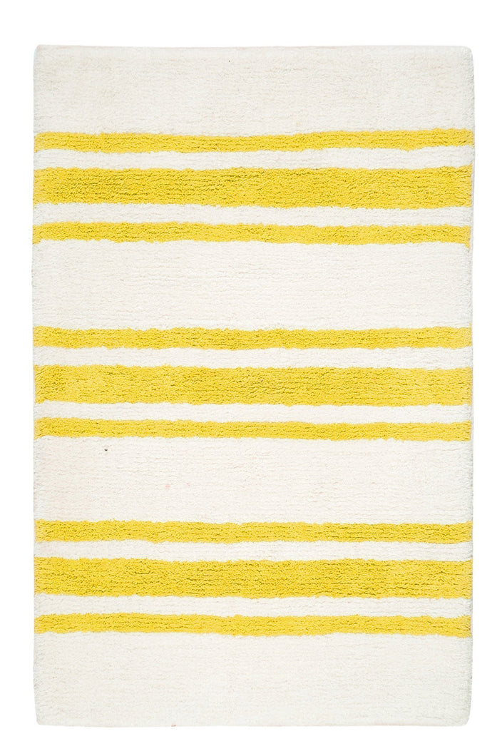 Stripe Yellow Bath Carpet - Departures & Arrivals