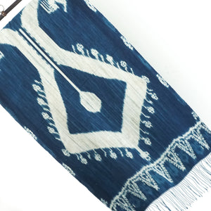 Tenun Sumba Biru Table Runner Tabletop Decor