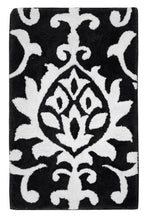 Load image into Gallery viewer, Damask Midnight Bath Carpet - Departures & Arrivals  - 1