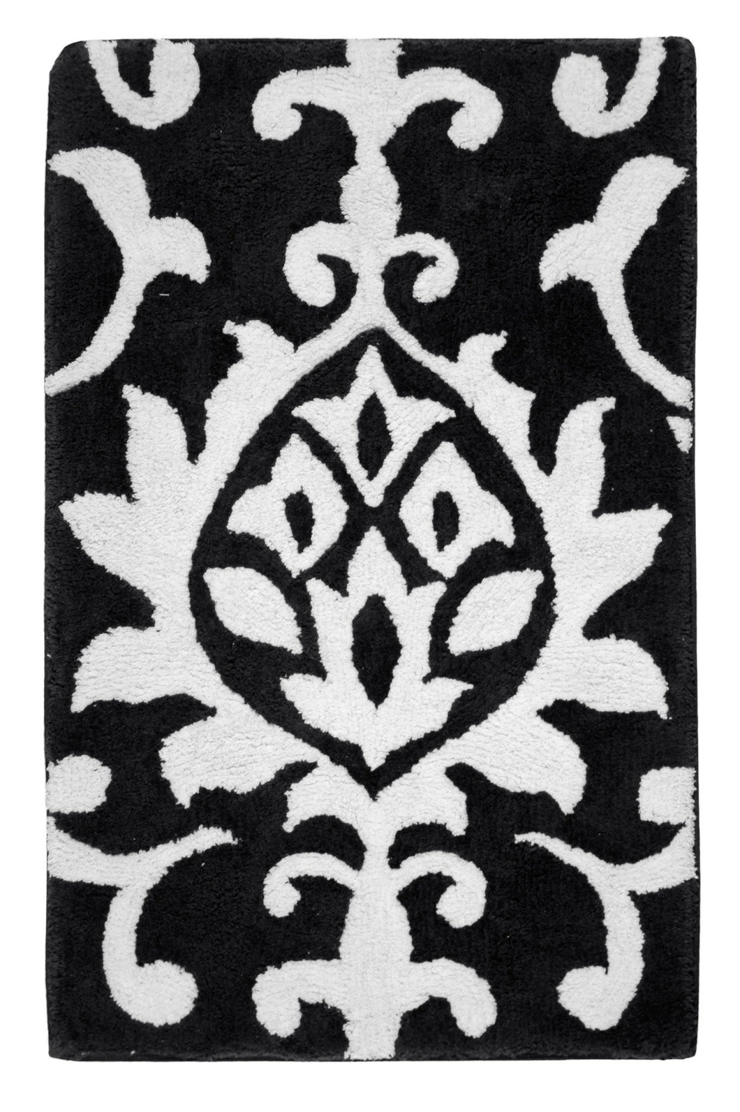 Damask Midnight Bath Carpet - Departures & Arrivals  - 1