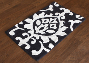 Damask Midnight Bath Carpet - Departures & Arrivals  - 2