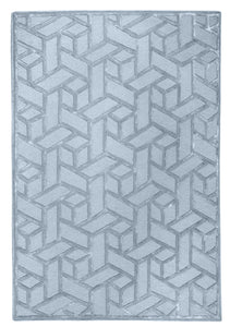 Geometric Silver Rug - Departures & Arrivals  - 1