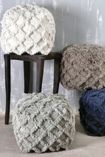 Load image into Gallery viewer, Tassell Taupe Pouf