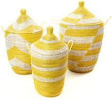 Load image into Gallery viewer, Gourd Hamper Basket (Yellow) Storage