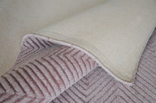 Load image into Gallery viewer, Lotus Light Pink Viscose Rug - Living DNA Singapore