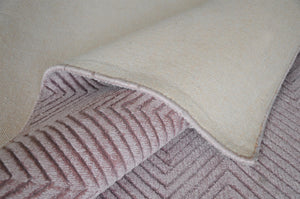 Lotus Light Pink Viscose Rug - Living DNA Singapore
