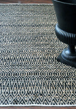 Load image into Gallery viewer, Java Black Hemp and Cotton Rug - Departures & Arrivals  - 2