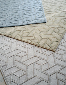 Geometric Silver Rug - Departures & Arrivals  - 2