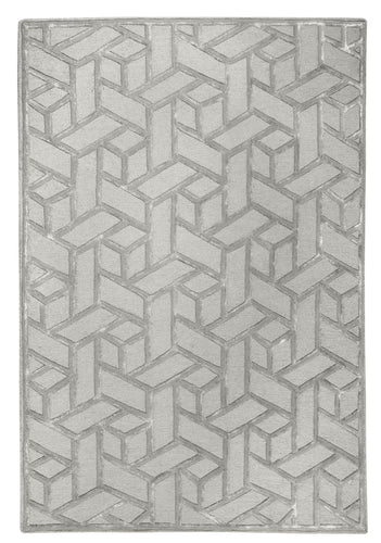 Geometric Stone Blended Rug - Living DNA Singapore