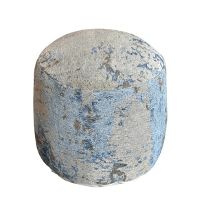 Abstract Blue Pouf Stools & Poufs