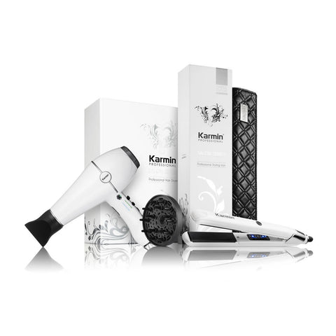 Karmin Salon Series Hair Straightener and Dryer Combo