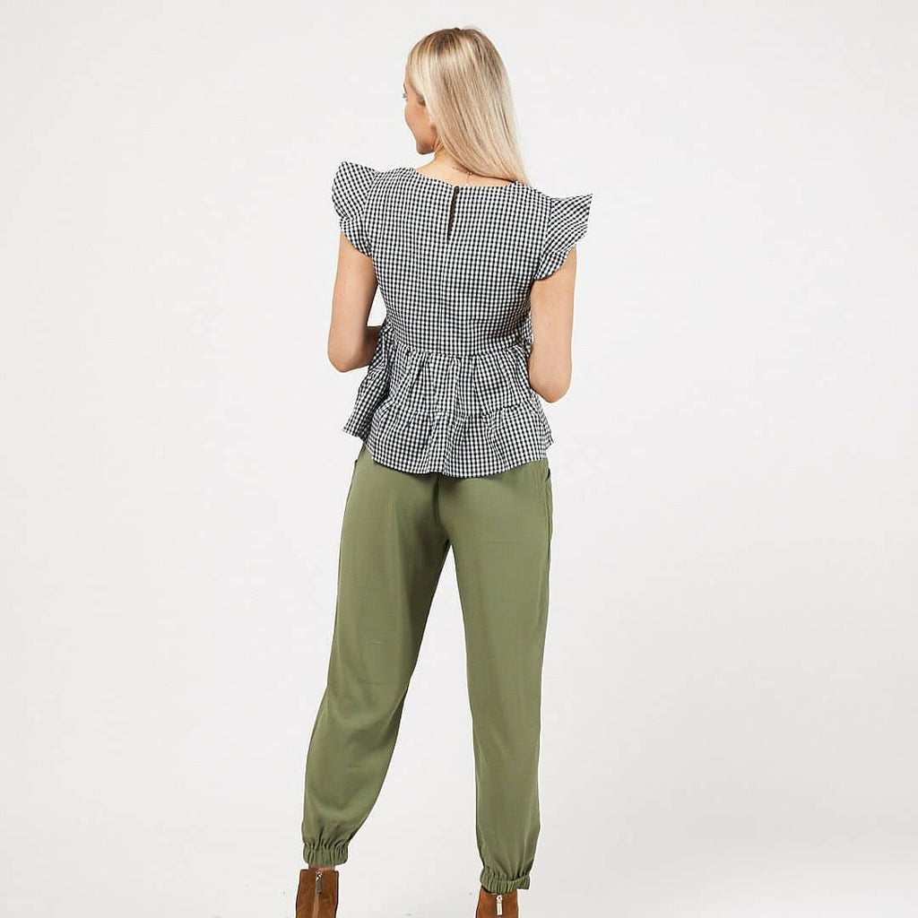 White Closet Dani Relaxed Ankle Pants - Khaki-Bottoms-6-My_Sister_Elle