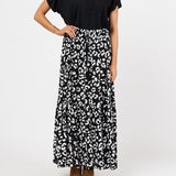 Label of Love Panther Black Maxi Skirt-Bottoms-S-My_Sister_Elle
