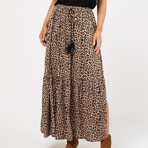 Label of Love Leopard Maxi Skirt from My Sister Elle Clothing