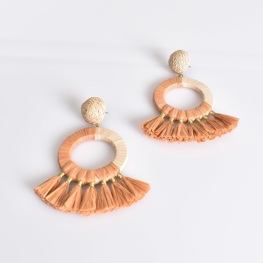Adorne Stella Fringe Ring Earrings